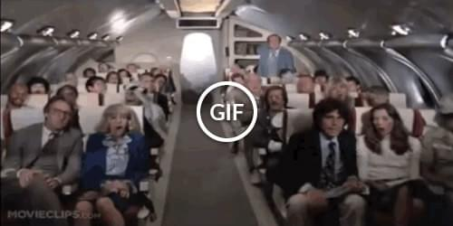 Panic scene from Airplane movie